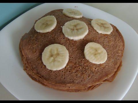 Desayuno Saludable; Pancakes de avena(receta de Sascha Fitness)