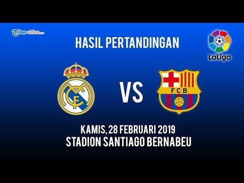 Hasil Pertandingan El Clasico, Real Madrid Vs Barcelona, Skor Akhir 0-3