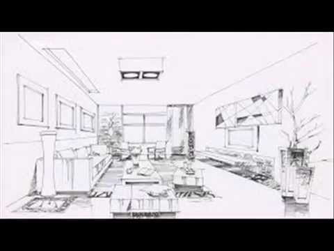 interior design perspective sketches