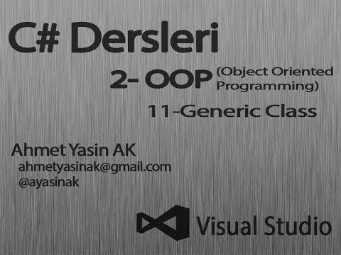 c yazılım dersleri nesne yönelimli programlama oop  211 generic class