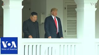 Trump-Kim Summit Balcony Appearance