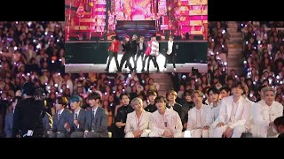 IDOLS reaction to BTS [방탄소년단] (Boy With Luv) MAMA 2019