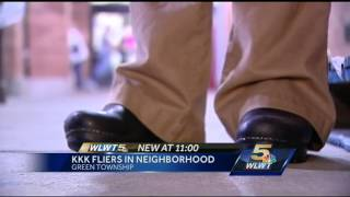 (KKK) fliers was left at homes, Police Say Is Not Incriminating  9/18/14