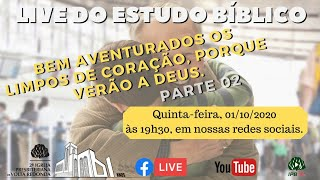 ???? Live Culto Doutrinário 01/10/2020