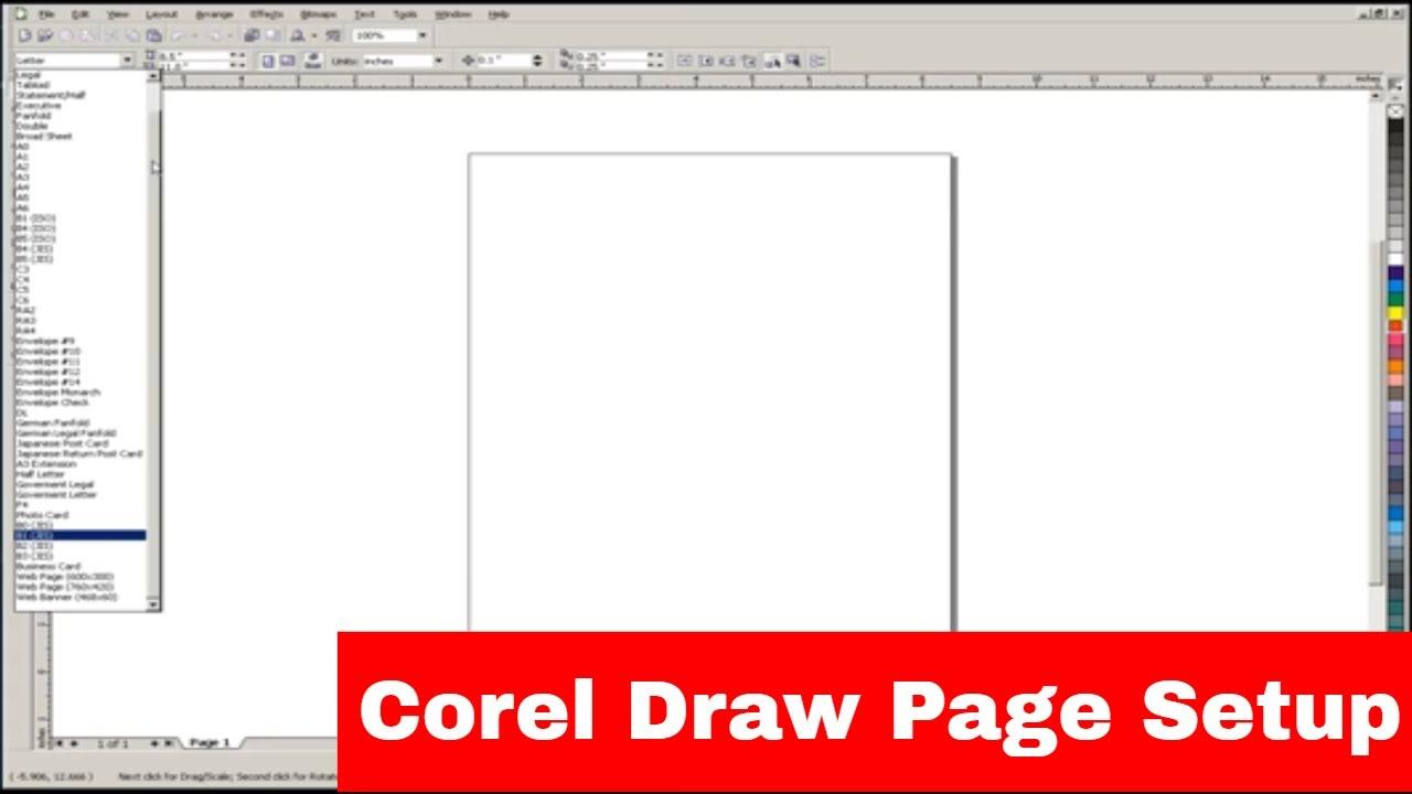 Corel Draw Document / Page Setup