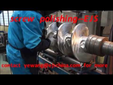 rubber screw polishing in EJS