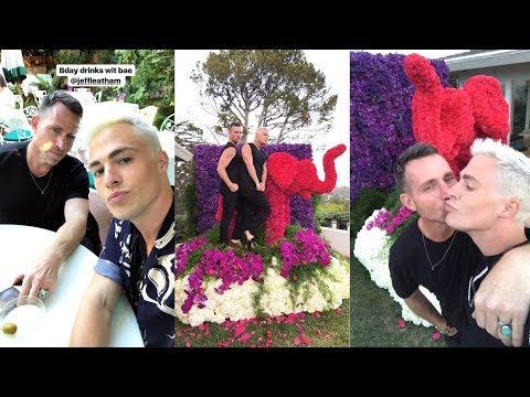 Colton Haynes | Snapchat Story | 13 July 2017 Celebrating Birthday Fiancée Jeff Leatham