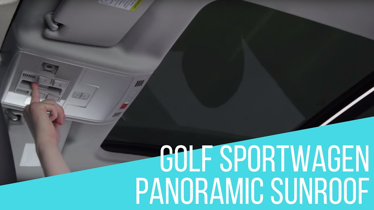 How to Use the Panoramic Sunroof in the VW Golf SportWagen