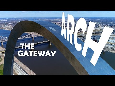 KEN HERON - DJI Phantom 4 PRO - The Saint Louis ARCH  (4K)