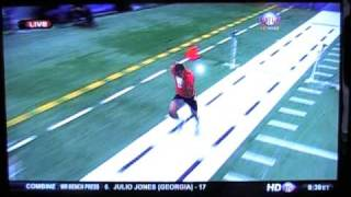 andre holmes wr 2011 nfl combine 40 yard dash hillsdale college