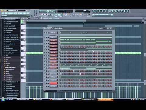 TUTORIAL: HOW TO MAKE A DIRTY SOUTH BEAT, TRAP BEAT IN FL STUDIO 10, FL STUDIO 12