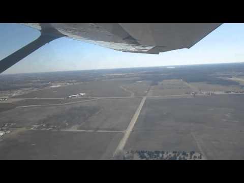 3/29/13. Cessna 172 takeoff at Grand Ledge, Michigan