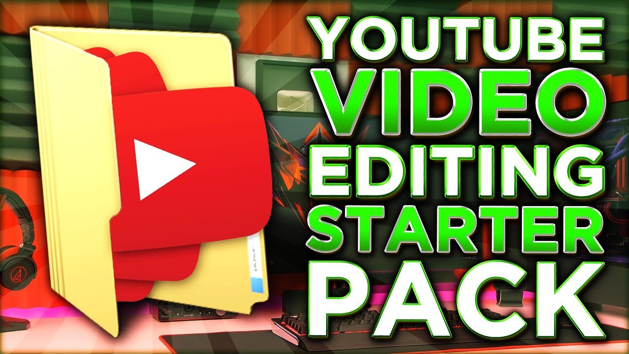 Youtube Video Editing Starter Pack For Youtubers Transitions Overlays Music Sfx Youtube