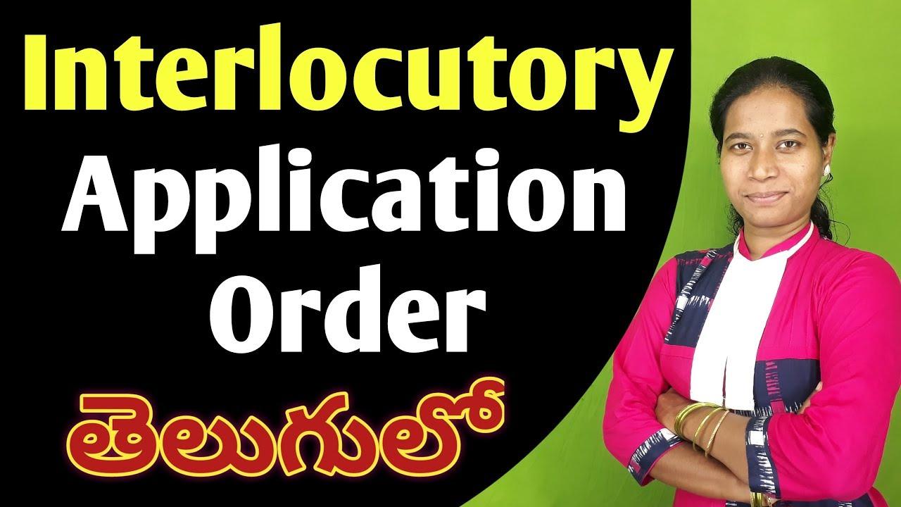 interlocutory meaning