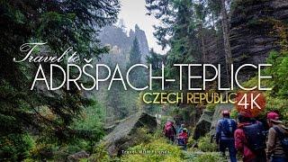 Travel to Adršpach-Teplice Rocks, Czech Republic in 4K