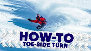 How To Master A Toe-Side Turn | Shred Hacks w/ Xavier de le Rue