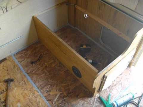 Repairing Popup Camper Floor Part 2 mpg YouTube