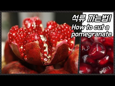 석류 까는법 / How to cut a Pomegranate / 알쿡 / RMTV COOK