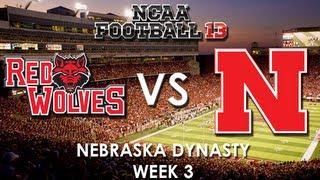 NCAA 13: Arkansas State Red Wolves vs. Nebraska Cornhuskers - Dynasty Mode