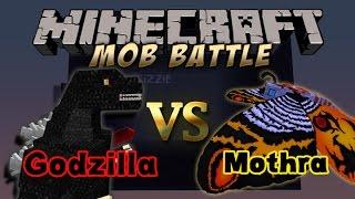 Minecraft Mob Battle:Mothra Vs Godzilla!!!!(Both from godzilla mod not from orespawn!)
