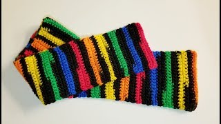 Child's Striped Scarf Crochet Project