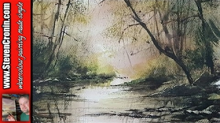 How To Paint a Simple Woodland Stream in Watercolour