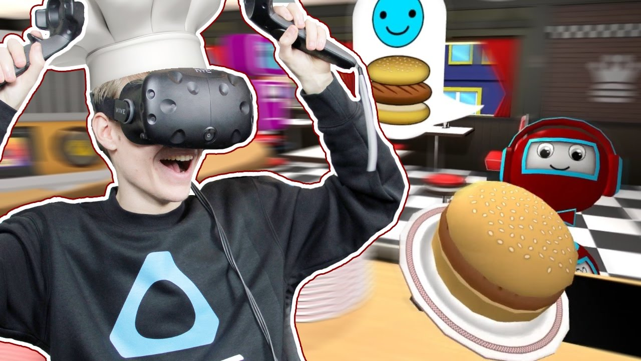 KID FRIENDLY VIRTUAL REALITY GAME! | The Diner Duo VR (HTC Vive Gameplay)