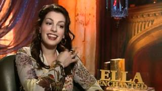 Anne Hathaway interview for the movie Ella Enchanted.