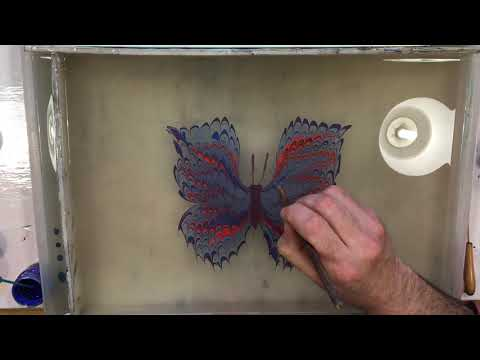 Paper Marbling and Turkish Ebru high speed butterfly demo with James Mouland