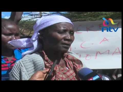 Churo residents protest the killing of their MCA, Thomas Minito