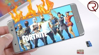Playing Fortnite on the Samsung Note 7! Will it explode?!