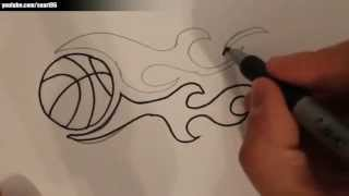 How to draw a basketball on fire(How to draw a basketball on fire Publishing : Suart86 All Rights Reserved (P) & (C) Suart86 2014., 2014-10-02T16:28:10.000Z)