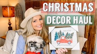 CHRISTMAS DECOR HAUL | CHRISTMAS HOME DECOR | HOME DECOR SHOPPING HAUL
