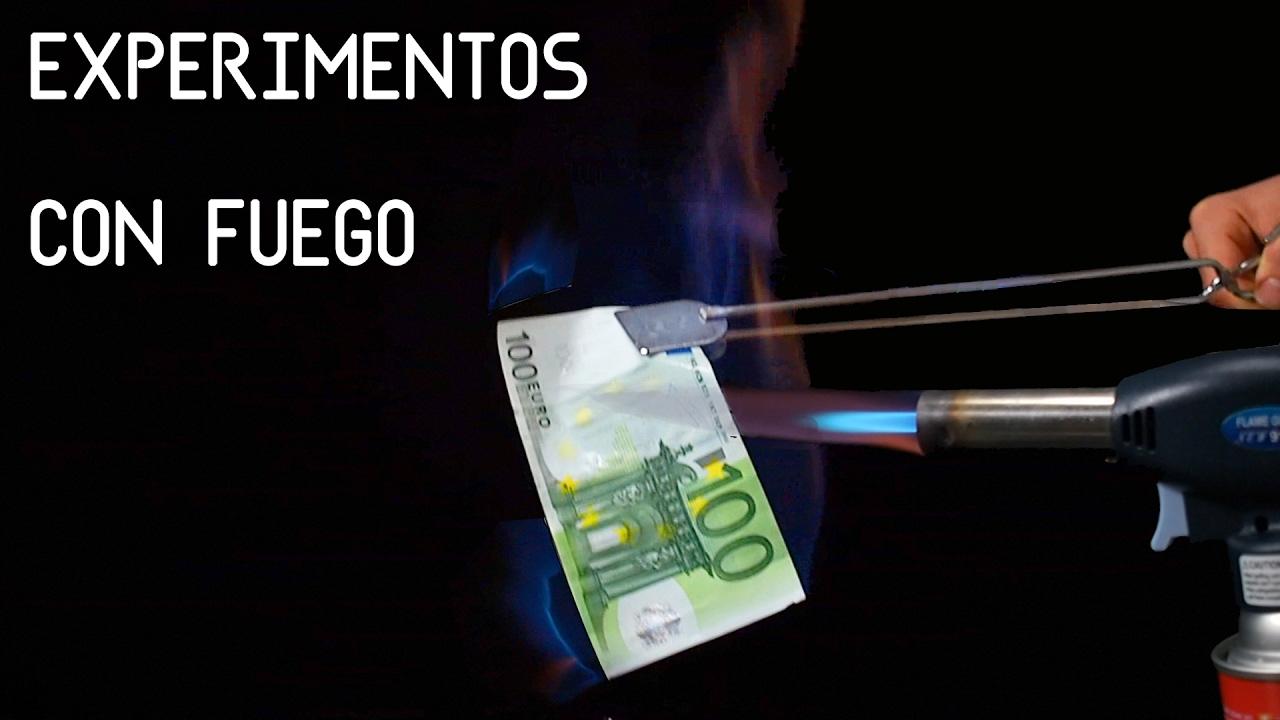 EXPERIMENTOS con FUEGO | Quemando billete de 100 Euros