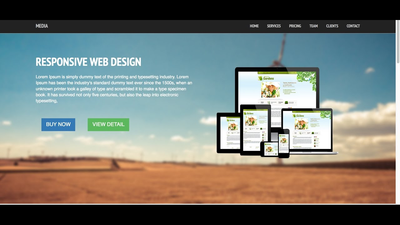 Part 1: Build Responsive Website Using Bootstrap: Website Tour ...