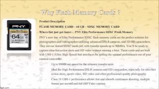 FLASH MEMORY CARDS PNY ELITE PERFORMANCE 64GB HIGH SPEED SDXC CLASS 10