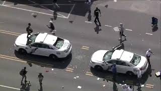 Complete Anarchy in Philadelphia. Rioters Loot Weapons From Police Vehicles