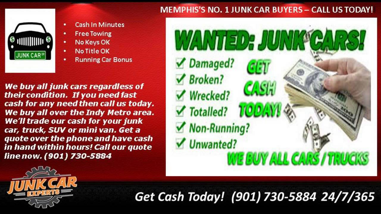 Memphis Junk Car Buyers Junk Cars For Cash Memphis - YouTube