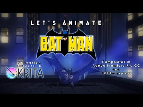 Let's Animate Ep. 17 - Krita: The Batman