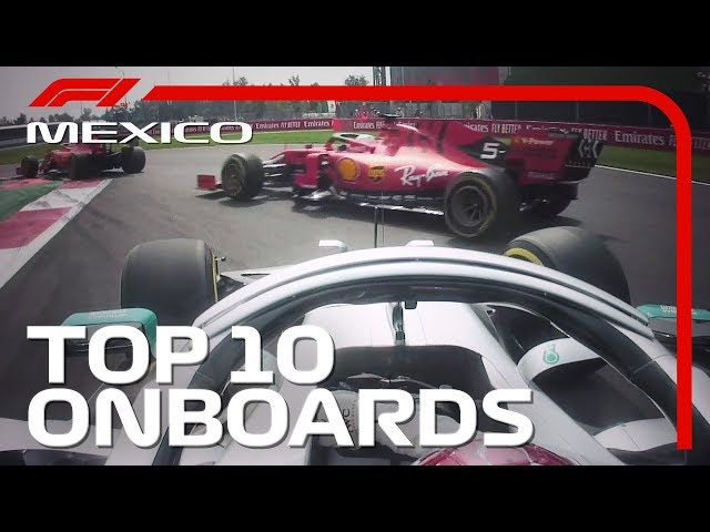 Drama At The Start, Amazing Overtakes And The Top 10 Onboards | 2019 Mexican Grand Prix