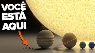 ESSE VÍDEO FARÁ VOCÊ REPENSAR SOBRE SUA EXISTÊNCIA - O TAMANHO DO UNIVERSO