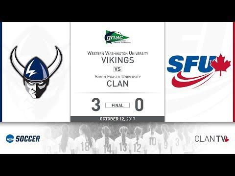 SFU Clan Women's Soccer vs. WWU - October 12, 2017
