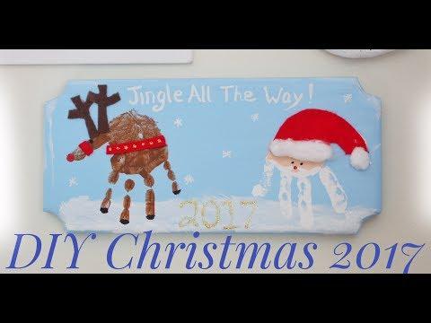 DIY Christmas Gifts 2017 - Wooden Christmas Handprint Gifts