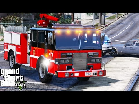 GTA 5 Play As A Firefighter Mod 46 | Chicago Fire Deparment | Responding To Fires & EMS Calls