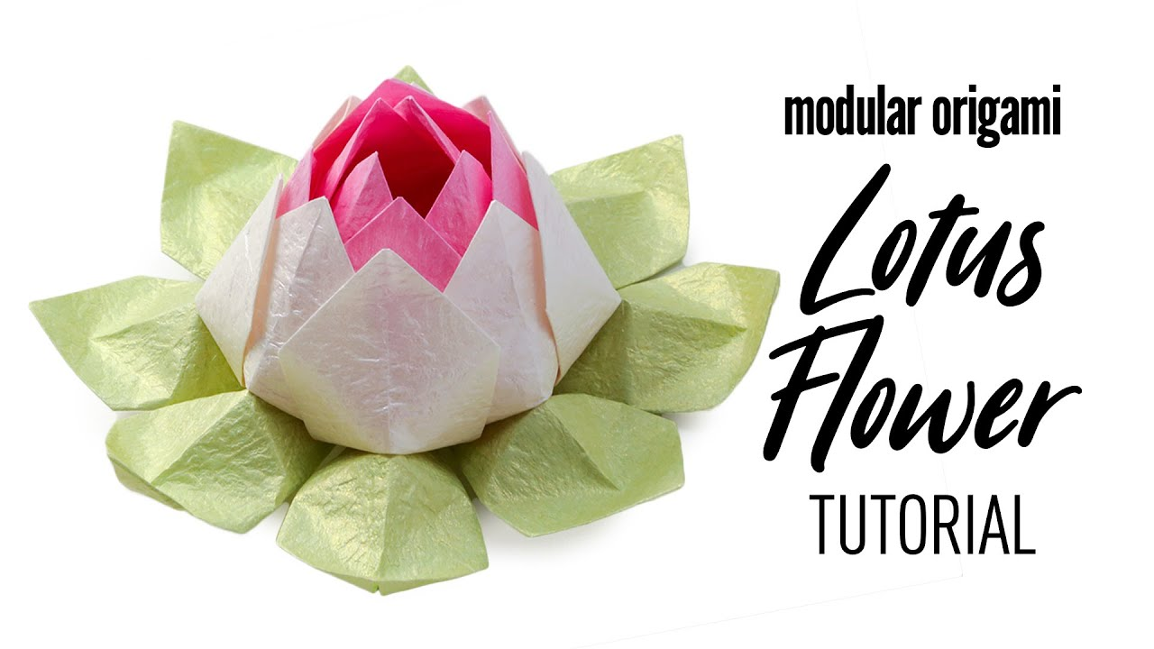 Modular Origami Lotus Flower Tutorial Diy Youtube
