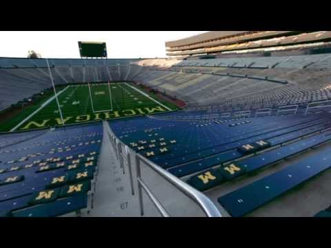 University of Michigan's football stadium and the need for life-saving donation