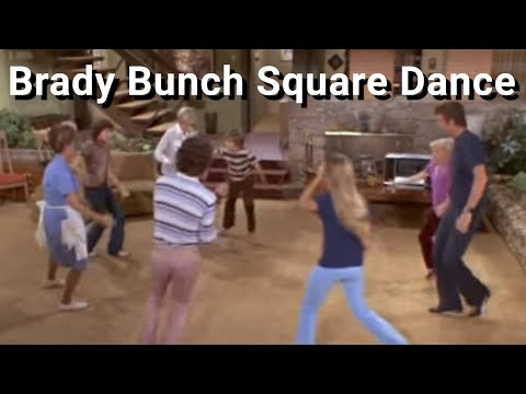 The Brady Bunch Square Dancing