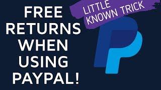 FREE RETURN POSTAGE TRICK VIA PAYPAL