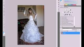 Фотошоп как сделать платье быстро пышным .