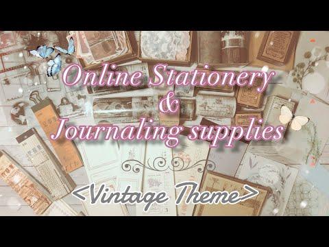 Stationery & Journaling Supplies Haul   Vintage theme   แกะพัสดุเครื่องเขียน ตีมวินเทจเก๋ๆ ค่ะ